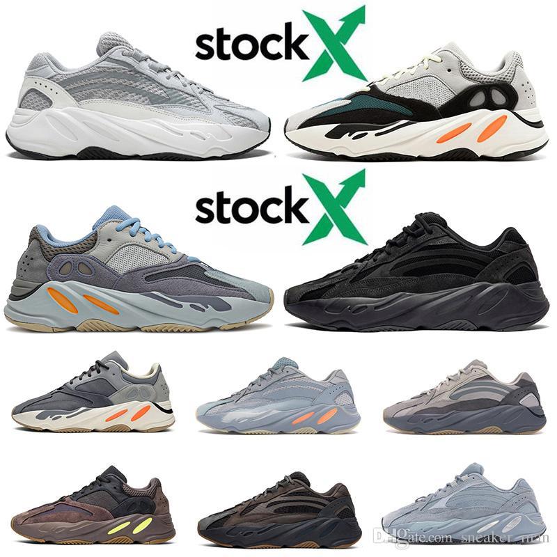 2020 Wave Runner 700 v2 2020 Kanye West Static 3M Men Womens Running Shoes Carbon Blue Vanta Tephra inércia ténis de tamanho 46