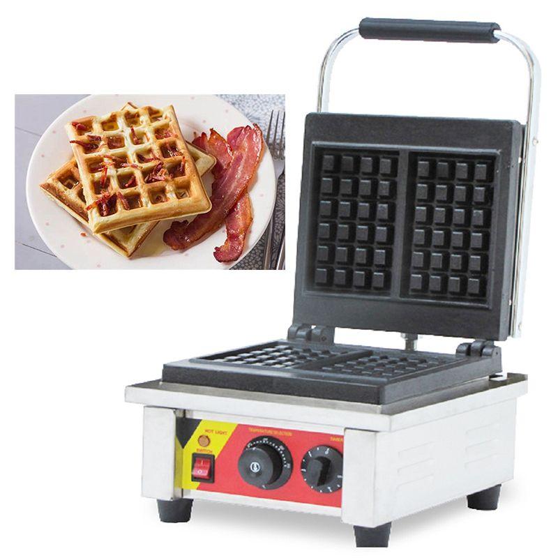 Ticari Kullanım Demir Cast Beligan Waffle makinesi 110 v 220 v Elektrikli Brüksel Waffle Makinesi Demir Baker Tost Aperatif Tava