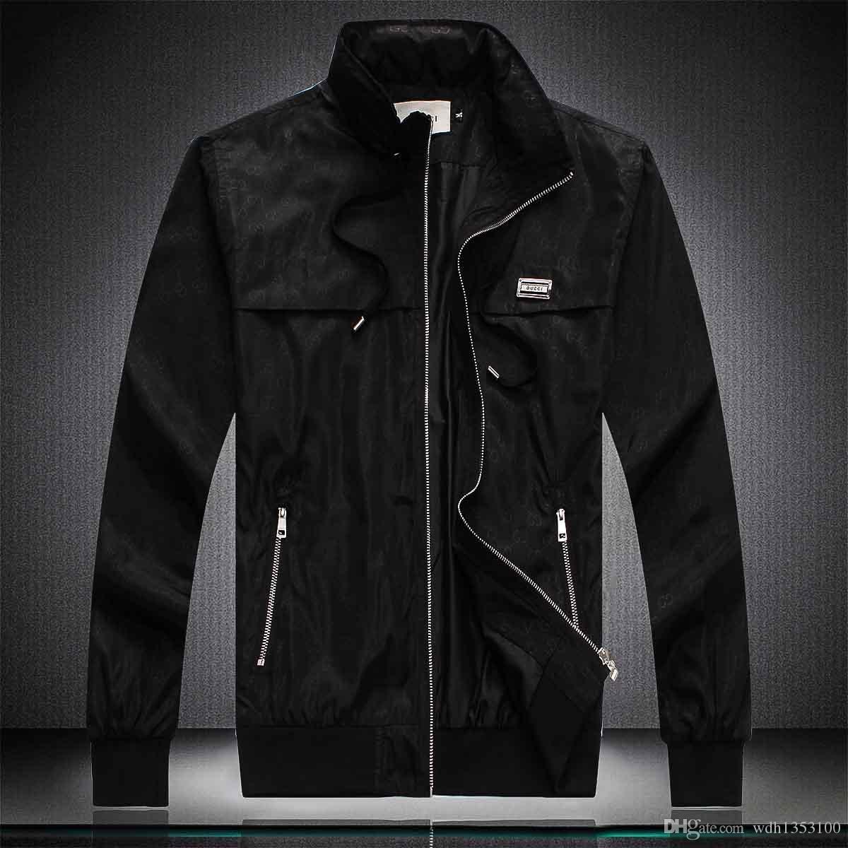 Cappotto Autunno Designer Giubbotti da uomo con cappuccio Giacca modo di marca Windbreaker Zipper Hoodies degli uomini Sportwear 8 colori M-4XL all'ingrosso