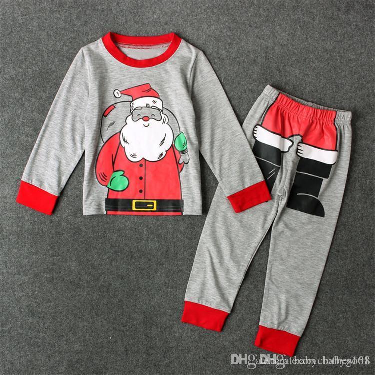 Boys Christmas Pajamas Kids Santa Claus Elf Costume Pyjamas Child Winter Xmas Sleepwear Children Long Sleeve Pijama Clothing Set