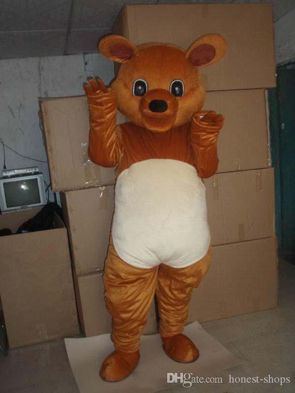 новый прекрасный коричневый большой Mascot мышь костюм верхнего качества мультфильм Крыса животных Аниме тема символов Рождественский карнавал партии Необычные костюмы