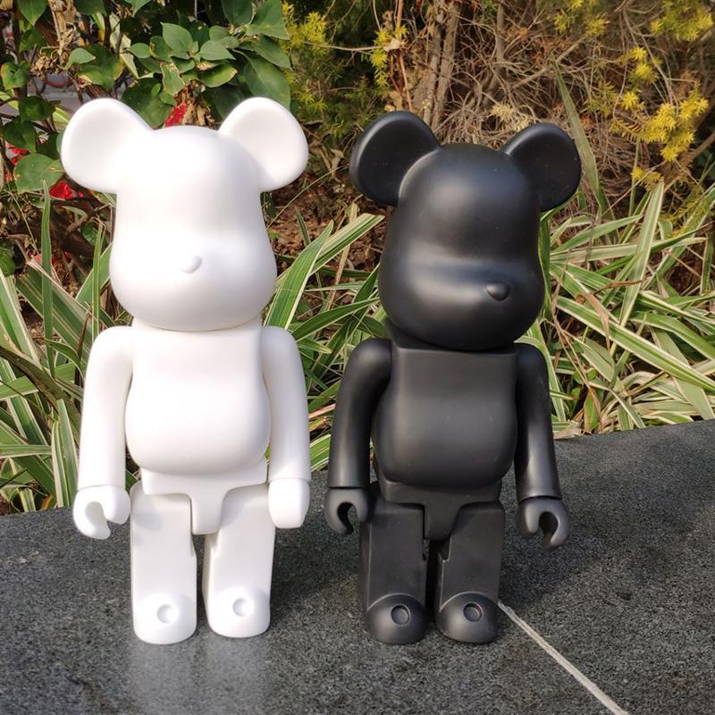 11inch 400٪ Bearbrick الدب @ الطوب عمل أرقام كتلة الدب PVC نموذج أرقام الأطفال هدايا DIY الطلاء الدمى