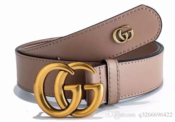 2018 Cinture Cinture uomo Cintura Serpente di lusso cinghia cinghie di cuoio Business Women Big oro Fibbia no Box