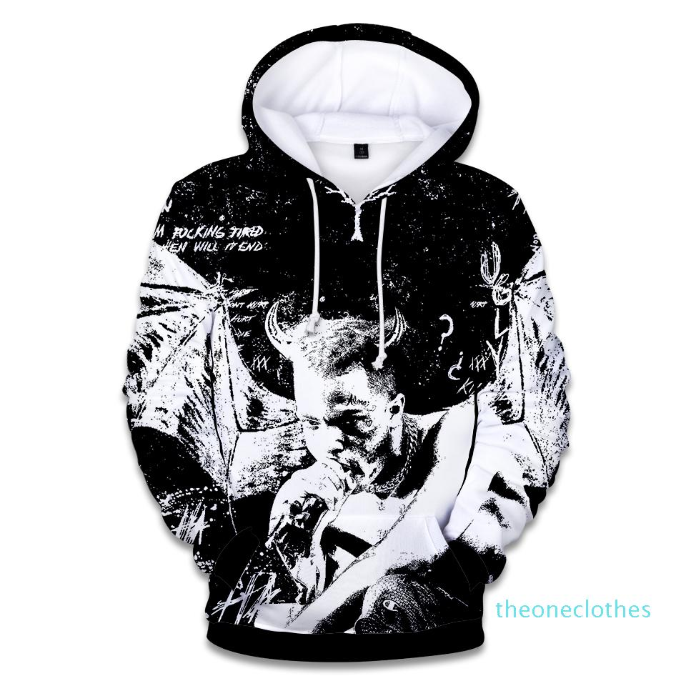 Rapper XXX Tentacion coton Sweat-shirts 3D Hip Hop Chanteur Xxxtentacion Uniforme Hoodies Hip Hop Sweat XM08