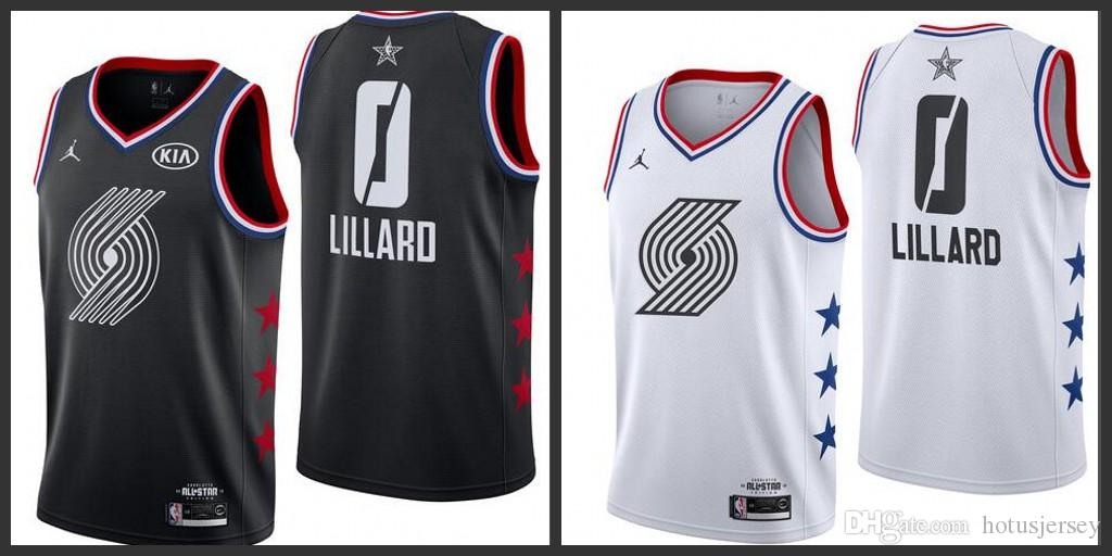 reputable site dd73c 4f82f 2019 All Stars Portland Mens Trail Blazers 0 Lillard Black Jerseys Hot Sale  White Jersey In Stock Cheap Tuxedos For Prom Dinner Jackets For Sale From  ...