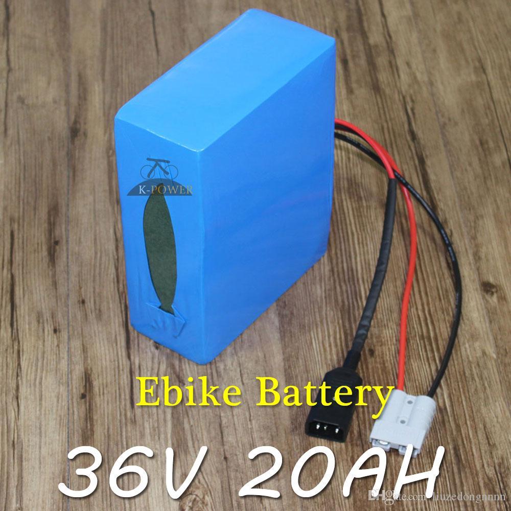 Bateria Elétrica do Trotinette da Bateria 1000 W da Bicicleta da Bateria 36 V 20AH do lítio 36 v com 50A BMS E Carregador DE 42 V 5A