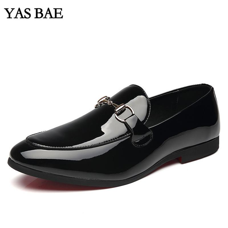 Male China italian Fashion Style Leather Dress Office Social Formal Shoe Patent Leather Black Peony Cheap Footwear for Men