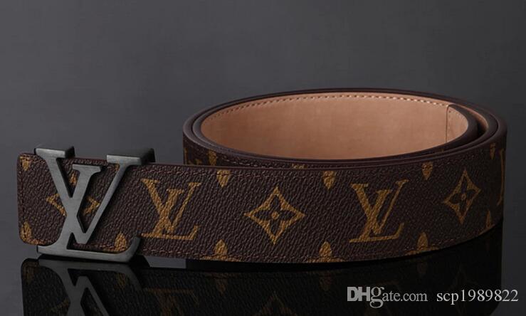 all'ingrosso Genuine Leather Belt Belt Buckle automatico Designer Cinture donne di alta qualità del nuovo del Mens Cinture lettere della cinghia il trasporto libero
