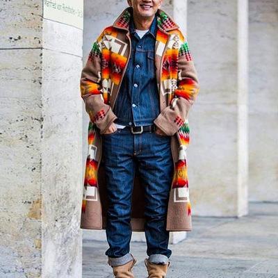 겨울 따뜻한 긴 코트 남성 코트 트렌치 남성 자켓 탑 코트 남성 인쇄 코트 가을 남성 캐주얼 긴 디자인 트렌치 남성