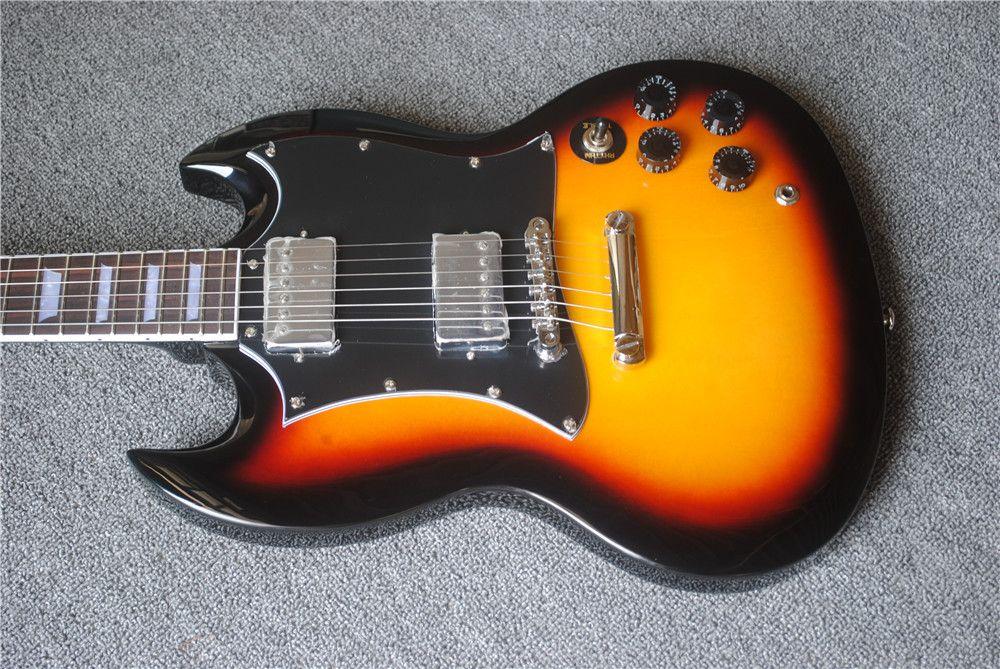 جودة عالية الغيتار الكهربائي الصيني، SG الغيتار الكهربائي، هيئة الماهوغوني، الورد الأصابع، غيتار كهربائي مخصص، شحن مجاني