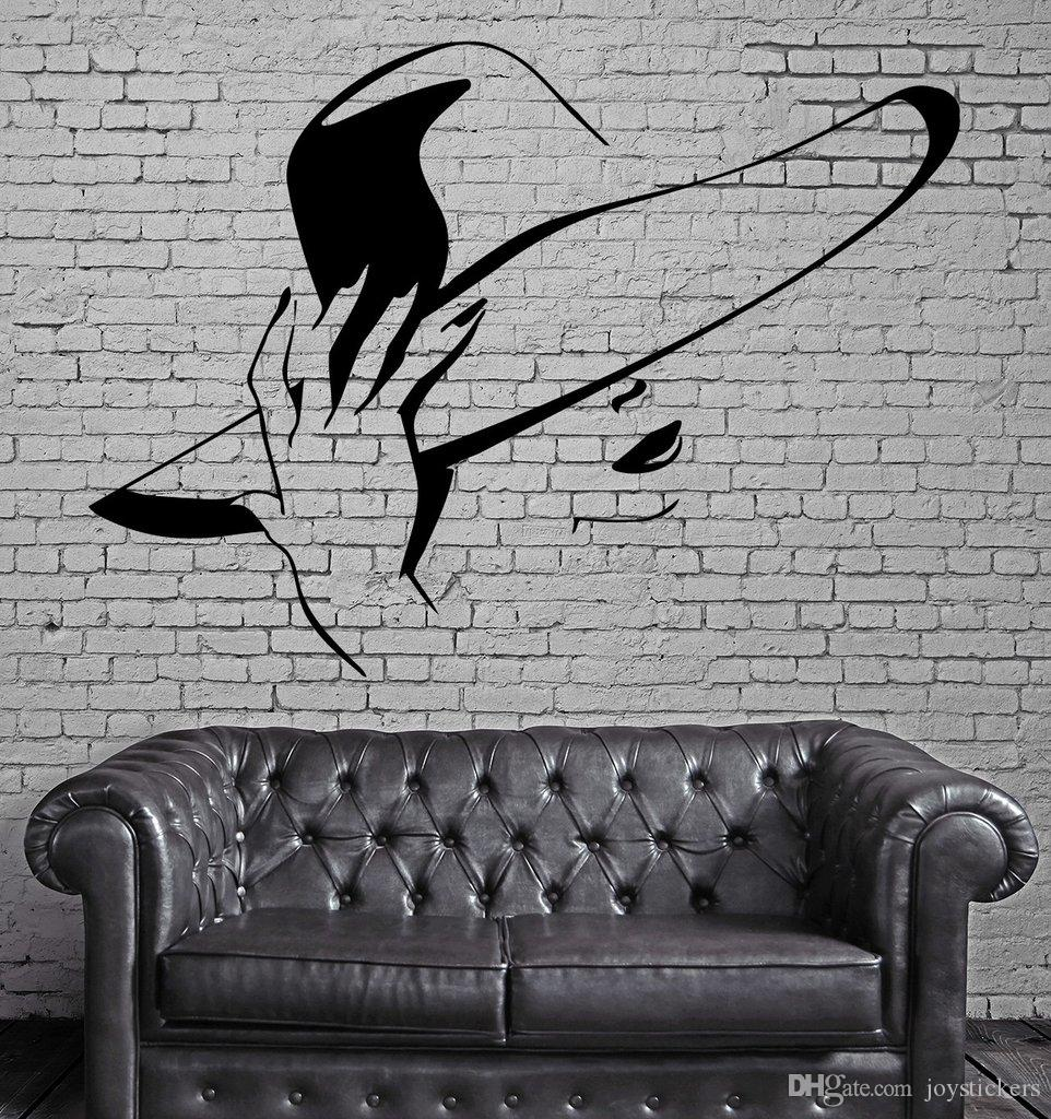 Hot Sexy Girl Wall Stickers Beauty Hair Spa Salon Mural Wall Art Decor DIY Self-adhesive Wall Decal Wallpaper