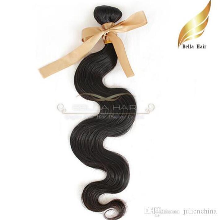 Unprocessed Human Hair Weaves Brazilian Hair Silky Straight Body Wave 50Gram Per Bundle Bella Hair Free Shipping