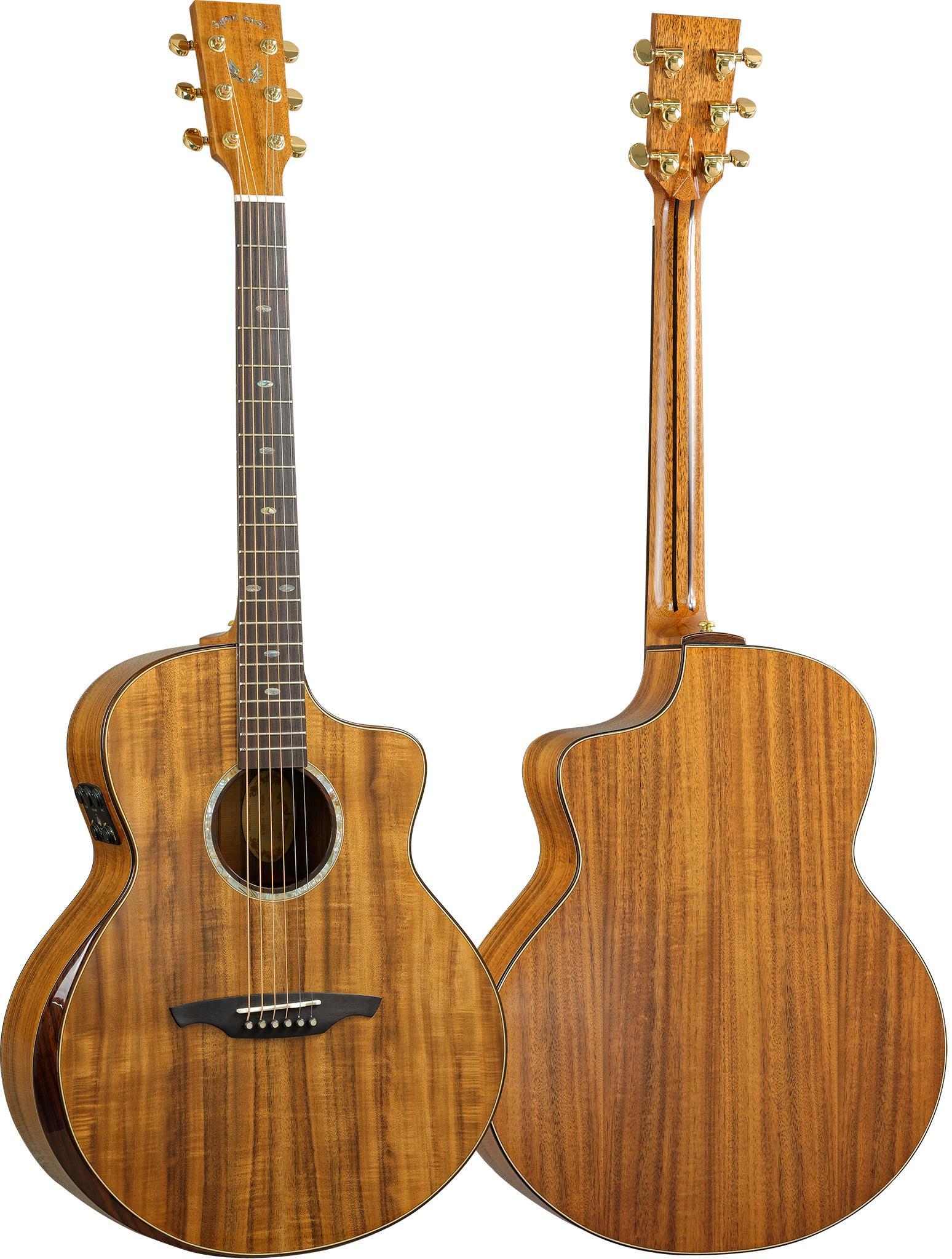 high end fornecimento de fábrica de boa qualidade 41 polegadas koa acústico guitarra elétrica preço de atacado sólida em estoque