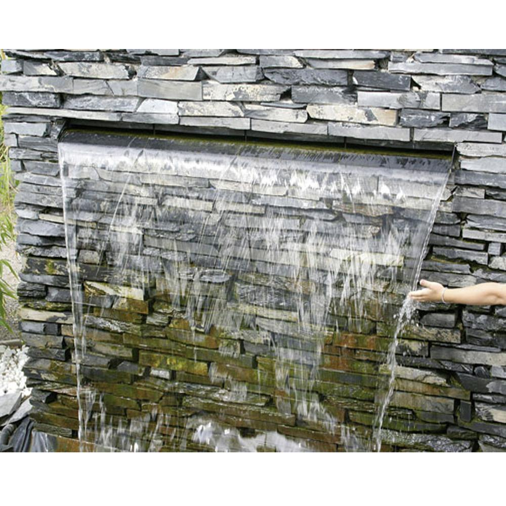 in acciaio cortina d'acqua piscina nuoto 304 acciaio giardinaggio cascate fontana a muro esterno