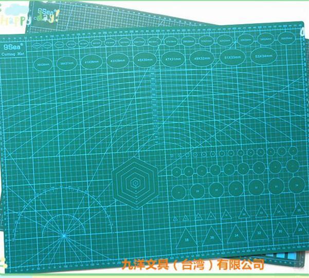 A2 PVC Rettangolo Grid Lines Self Healing Tagliatura Tappetino per utensili in pelle Craft Craft Strumenti fai da te 45cm * 60 cm