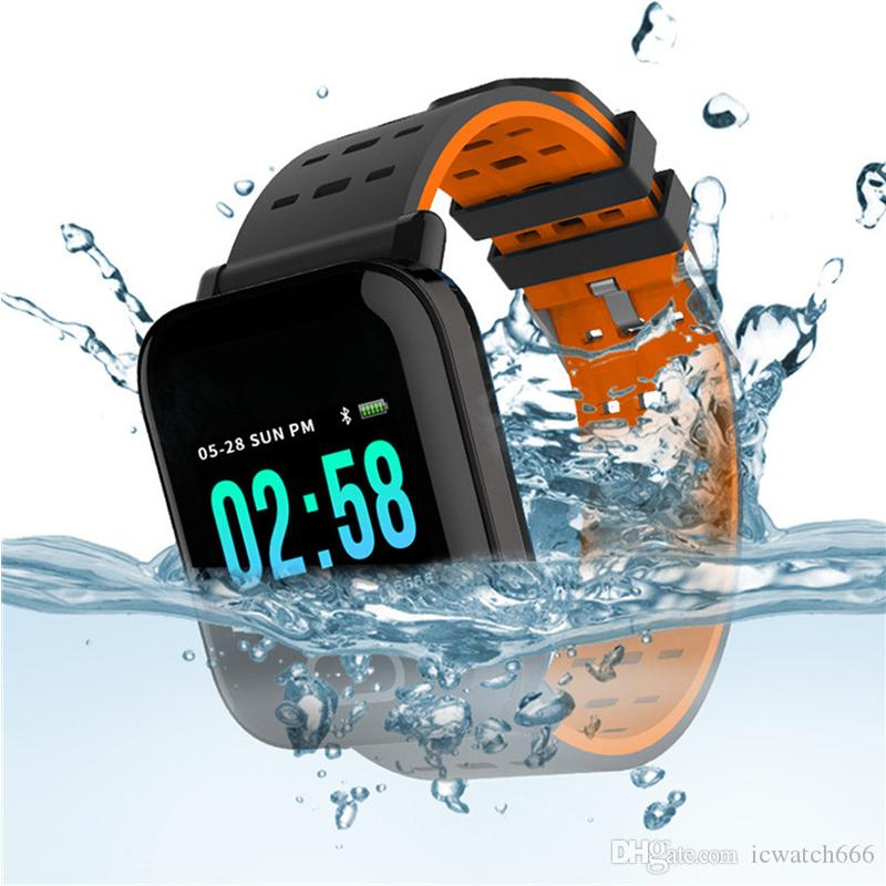 A6 Bluetooth Smart Watches Fitness Tracker Wristband Color Touch Screen Waterproof Smartwatch with Heart Rate Monitor pk fitbit