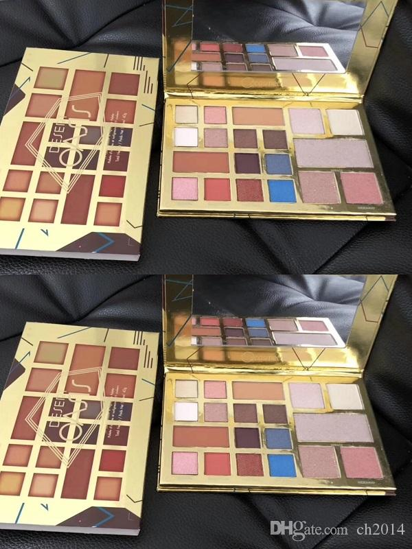 New 19 Shades Meet Matter Nude Highlighter Makeup Eyeshadow Blush Face Pressed Powder Palette Free Shipping
