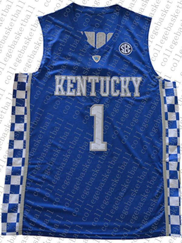 A buon mercato all'ingrosso Devin Booker Jersey Kentucky Wildcats Blu bianca cucita pallacanestro Jersey Personalizza qualsiasi numero nome UOMINI DONNE GIOVANI