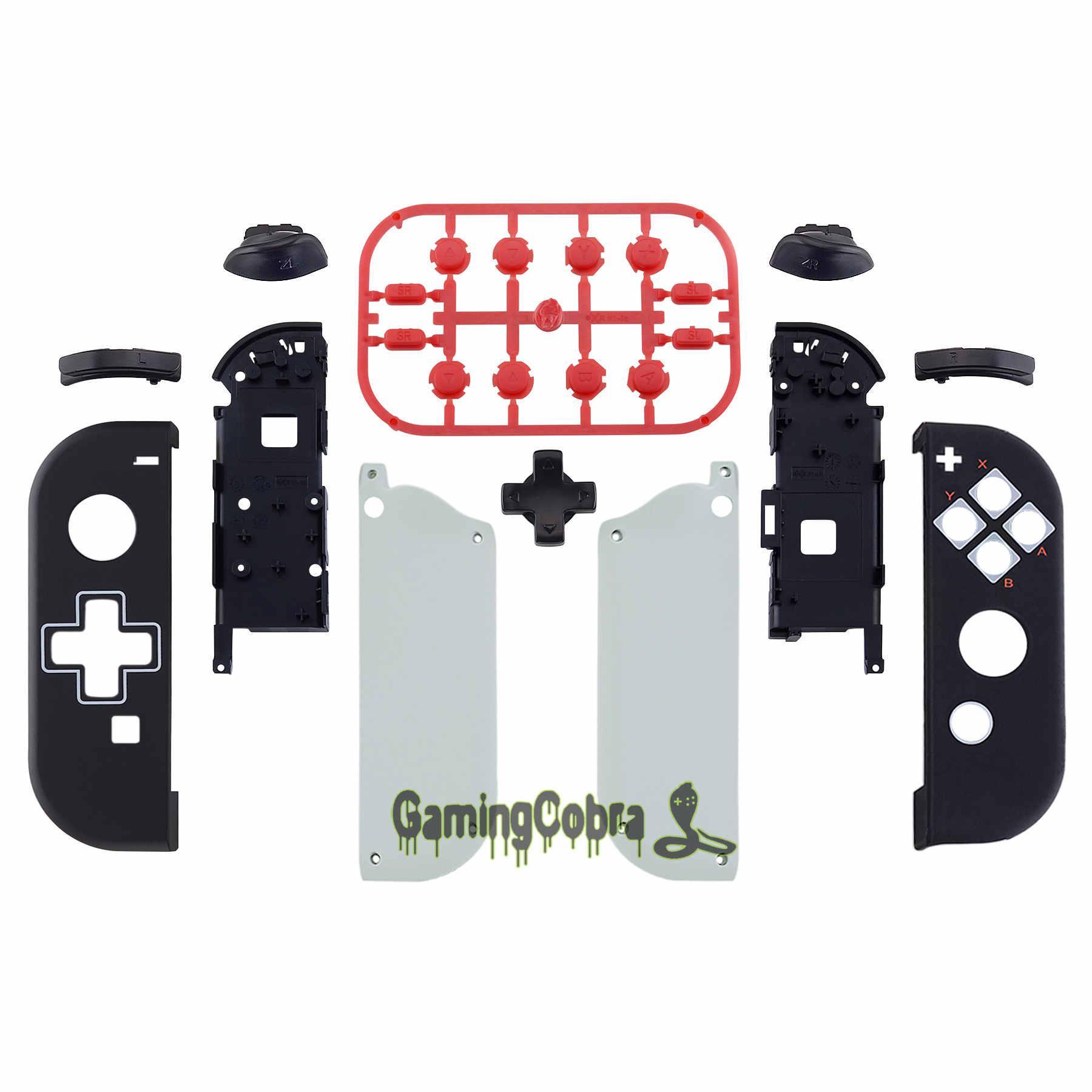 NES Estilo Soft Touch Controlador Habitação (D-Pad Version) w / Set completa Botões de substituição Shell para Nintendo Mudar Joy-Con