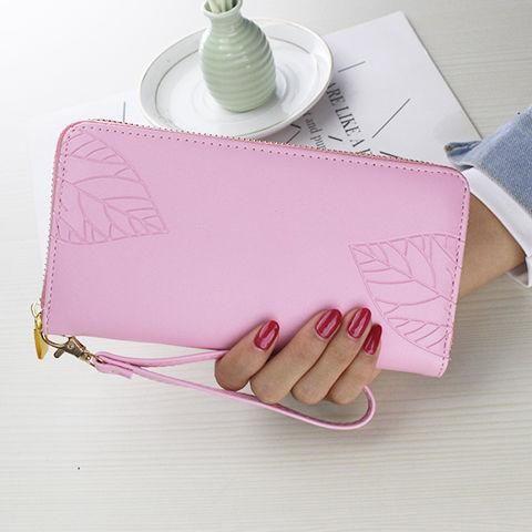 Venda quente design de bolsas Moda Longo Zipper envelope Bags couro mini Mulheres Luxo Carteiras folhas lisas Imprimir titulares de cartão de fotos