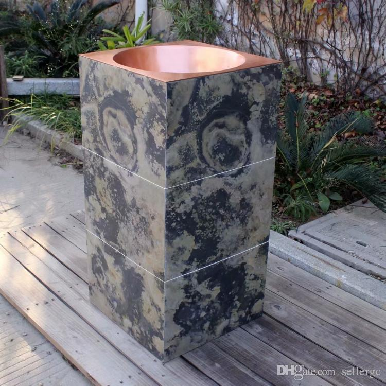 china sink Copper Vanity Sink Copper products bathroom Copper Pedestal Sink