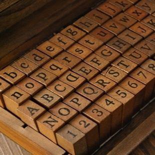 70pcs Seals 10 Number 52 English Alphabet 8 Symbol Wooden Box Seal Stamp Set for DIY Diary Ablum Letter Paper Envelopes Wedding