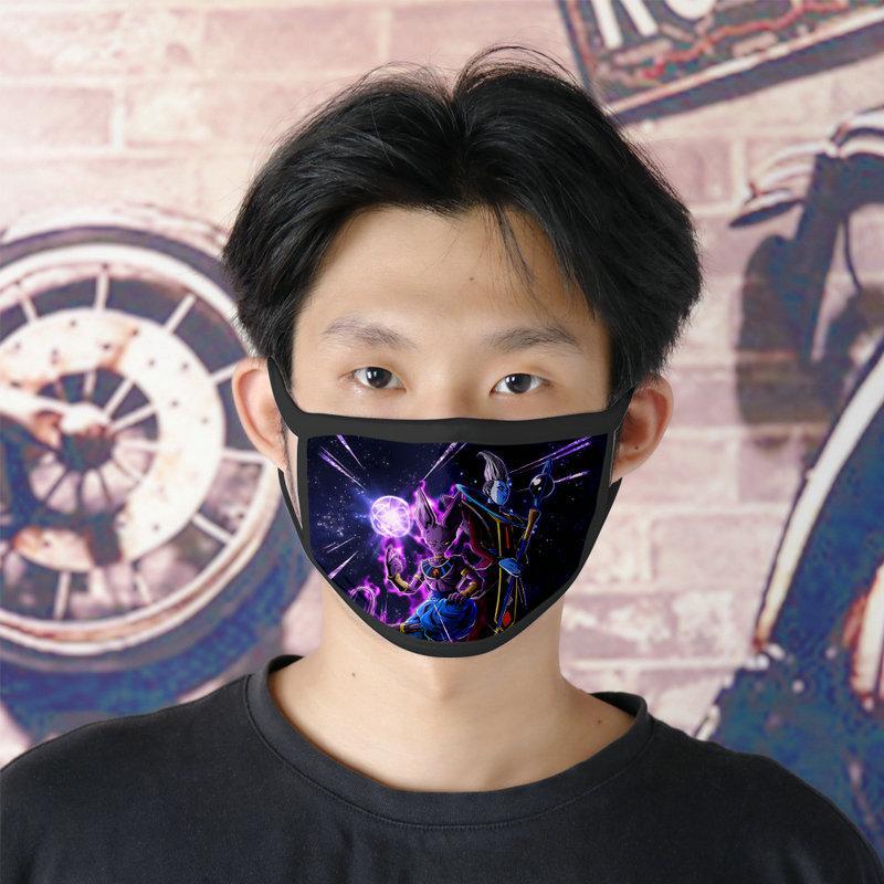 Dhl Livraison gratuite super Dragon Ball Heroes 0620 Lavable Facemasks réutilisable Masque visage pour fille Ice Silk bicouches Cubrebocas IaJg Masque Tissu