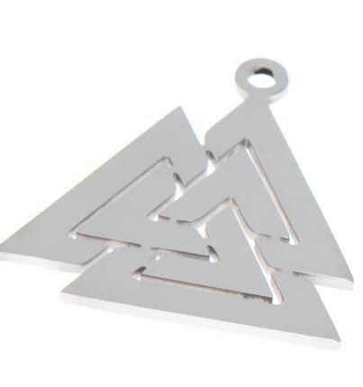 5pcs//lot Valknut charm Viking Symbol Nordic Logo Emblem Amulet pendant 26x24mm
