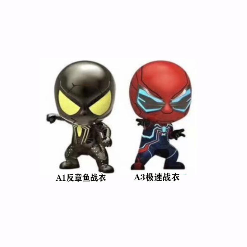 Mesmo parágrafo Q versão do carro dos desenhos animados balançou a cabeça Cartoon Doll Suit Spider-Man Figuras decoração de carro de brinquedo