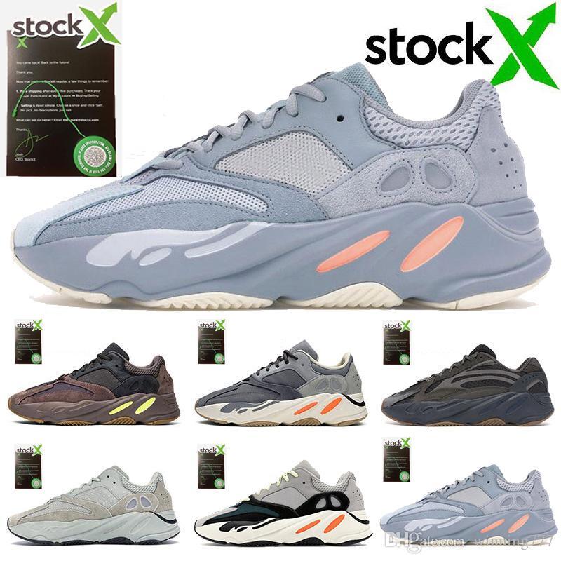 adidas 700 V2 700 Runner 2019 New Kanye West malva onda Mens Mulheres Athletic Melhores 700s Qualidade Sports Correndo Sneakers Designers Shoes CC8-6