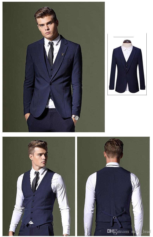Nouvelle arrivée un bouton garçons d'honneur entaille revers marié smokings costumes pour hommes mariage / bal de promo meilleur homme blazer (veste + pantalon + veste + cravate) 058