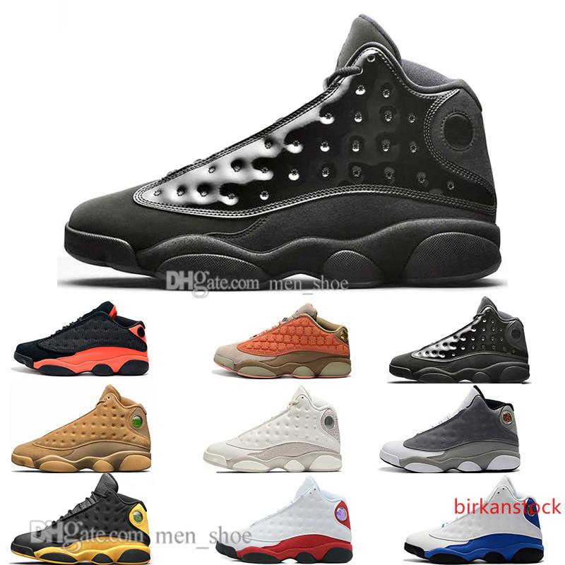 Zapatos calientes 13 del vestido de terracota Blush de baloncesto del Mens 13s gorra y negros de Chicago Pedernales infrarrojos Bred formadores de diseño DMP Hombres Deportes zapatillas de deporte