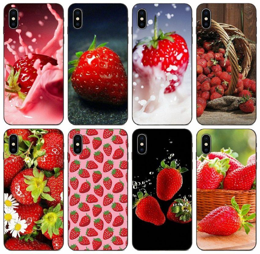[TongTrade] Клубничный чехол для iPhone 12 X Xr Xs 11 Pro Max 8 7 6s 5 Plus Case Samsung S10 A8 A9 Star Pro Huawei P30 Y5II Y6II редми Примечание 6