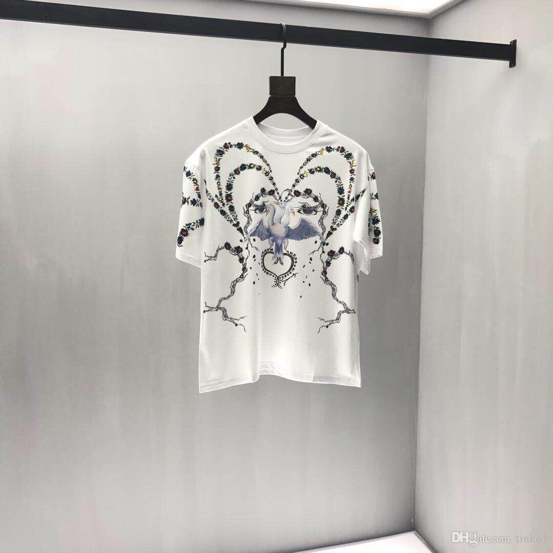 2019 новая мода летняя футболка мужчины с короткими рукавами хлопчатобумажные топы классная футболка глаз небесный костюм костюм модная футболка