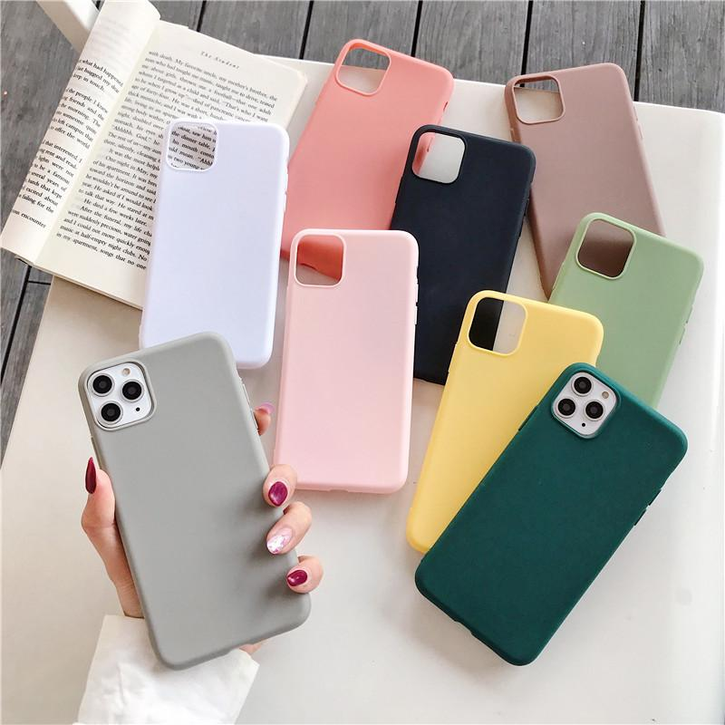 Color soft Silicone Case For iPhone 11 Pro xs max xr 5 5s se 6 6s 7 8 plus cover Coque