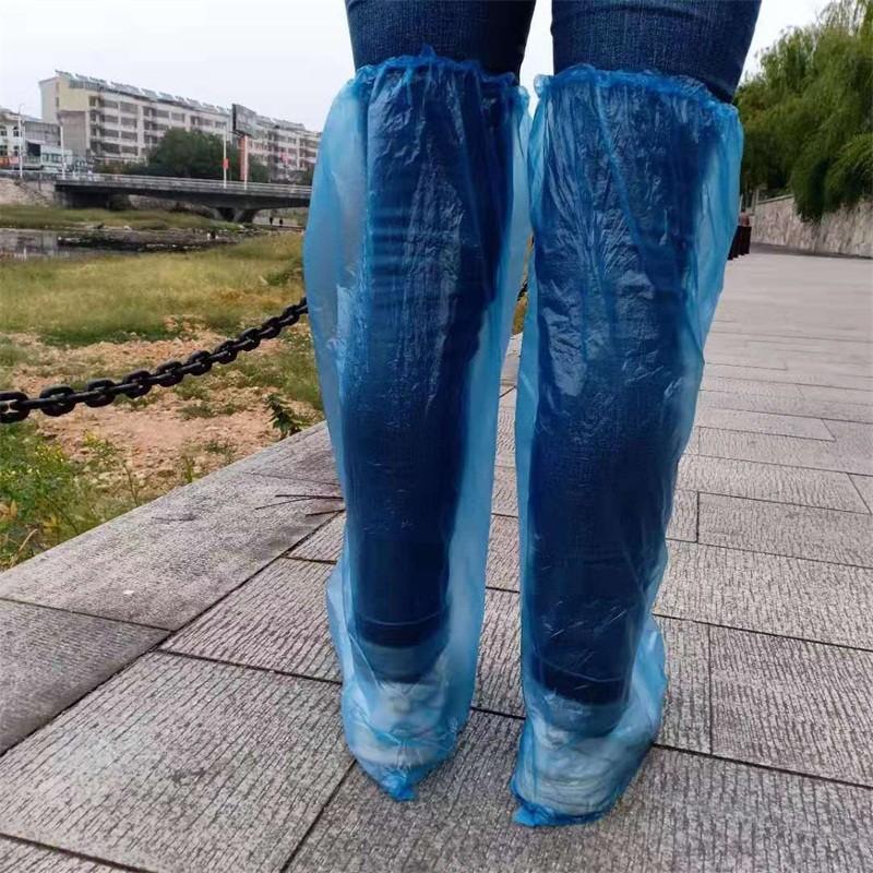 Longo Outdoor Estilo descartáveis Shoes Tampa plásticos azuis Cores Bota abrange a segurança Overshoes Fit Indoor Tapete Piso 0 3yq E19