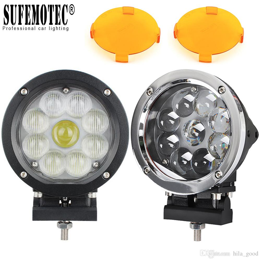 5.5 Inch Round LED Work Light Spot Combo Beam for Offroad Machinery 4WD ATV SUV Truck 4x4 Driving Head Lights 12V 24V