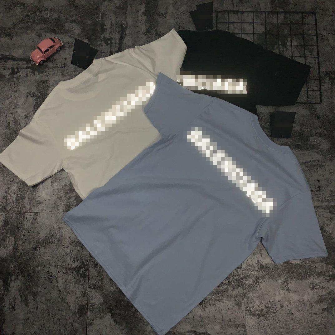 Luz Impresso Designer Mens Mulheres Camisas do verão Street Fashion Shirt Luxo Homens Mulheres manga curta Marca Top Tees Mens Streetwear 2042909H