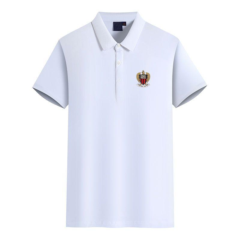 OGC Nice 2020 kısa kollu erkek iş spor gündelik yaz yeni polo gömlek büyük boy DIY moda erkek polo olabilir