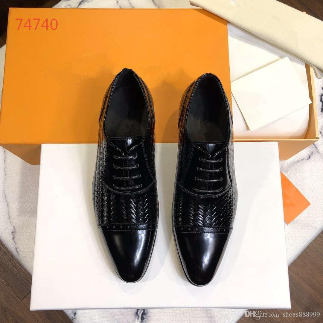 2019 chaussures de sport de qualité supérieure pour hommes occasionnels baskets causales en cuir véritable meilleures chaussures avec boîte 38-45 A4