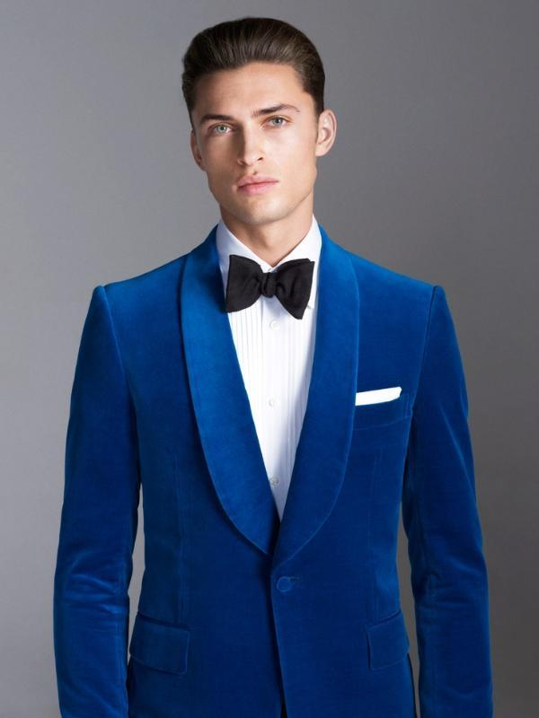 Costumes Costume bleu royal d'affaires formel Veste de smoking élégant Costumes de mariage Blazer Slim Fit pour les hommes Fatos De Casamento
