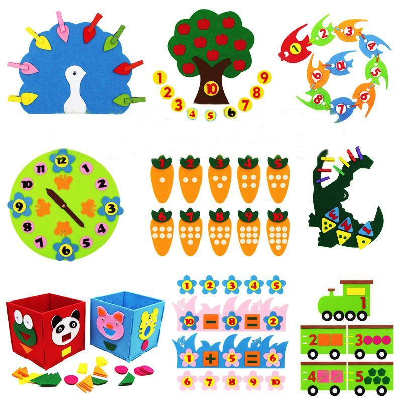 Lehre Kindergarten Handbuch Diy Weave Tuch Early Learning Education Toys Montessori Lehrmittel Math Toys