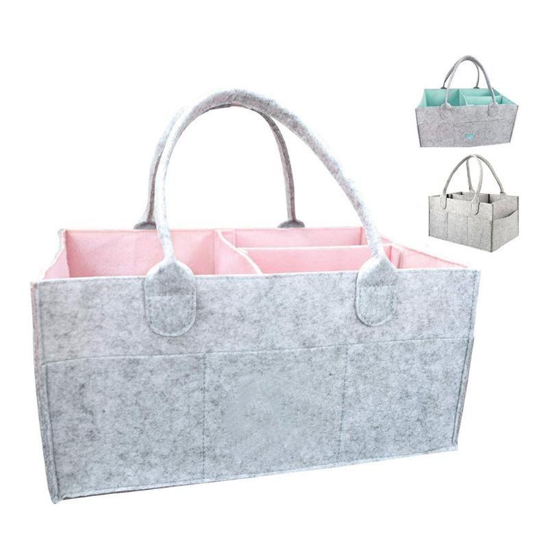 Baby Diaper Caddy Organizador infantil Fralda Armazenamento Bin tecido do bebê Wipes Bag Nappy Alterar titular saco portátil