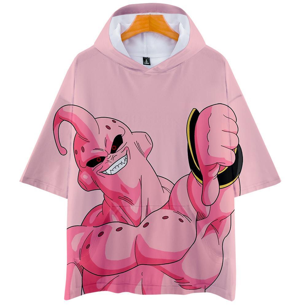 Dragon Ball Z Anime T-shirt à capuche pour Hommes Femmes Enfant T-shirt avec capuchon de style japonais à manches courtes à capuche T Vêtements Buu T200616