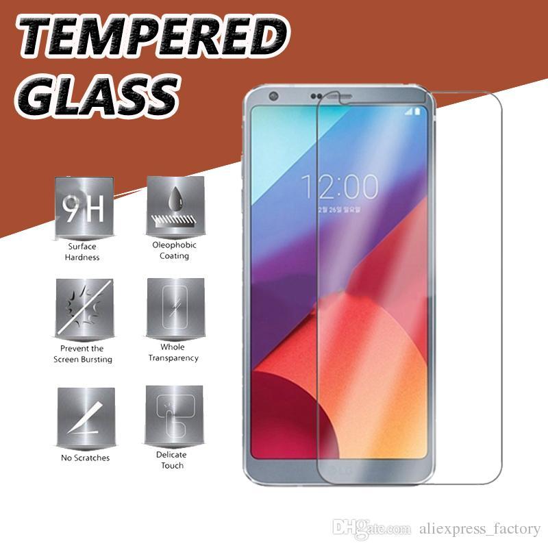 9H Premium Clear Przezroczyste szkło hartowane Ochraniacz ochraniaczem ochraniaczem do LG K30 K40 V40 V50 L80 L90 odporny na wstrząsy Antiknock