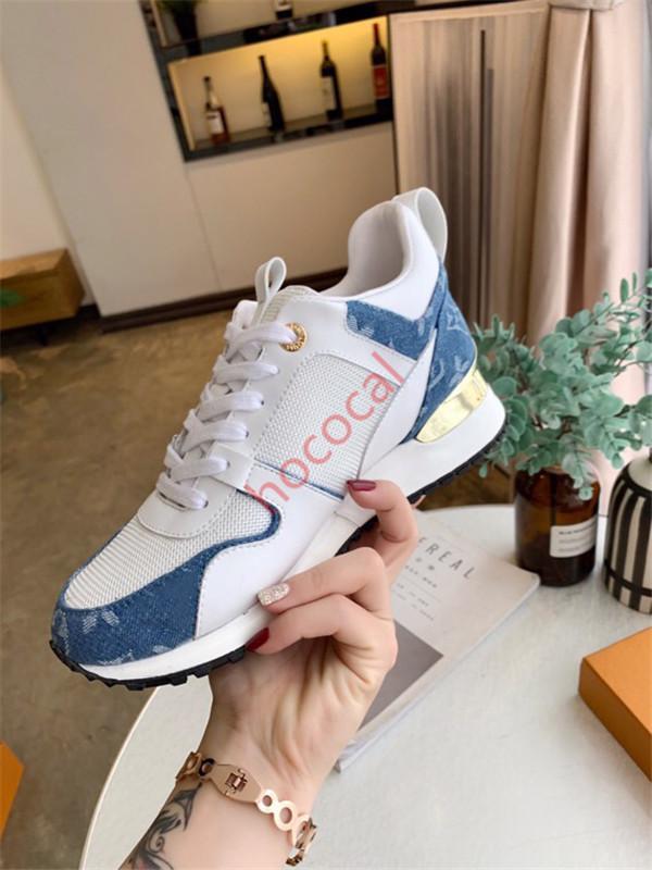 Louis Vuitton Shoes Yüksek kaliteli Tasarımcı Ayakkabı Markası Erkekler Kadınlar Düşük Kesim Casual Run Away Ayakkabı Fransa Marka Erkek Kadın Sneakers loafer'lar