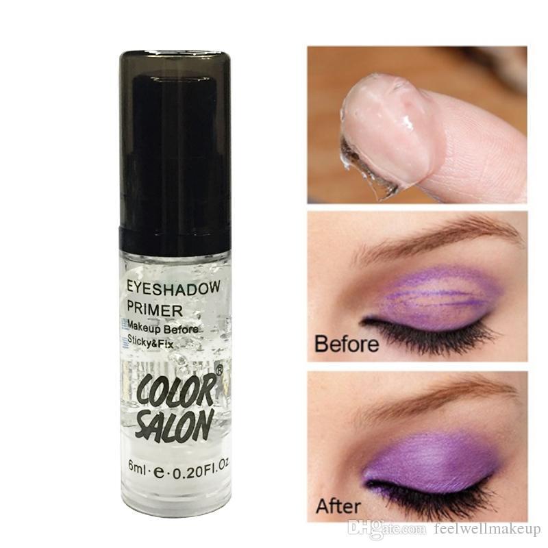 Paleta primer maquillaje a prueba de agua que el color de los ojos Salon Hasta imprimador base natural cosmética profesional del maquillaje del sombreador crema de larga duración
