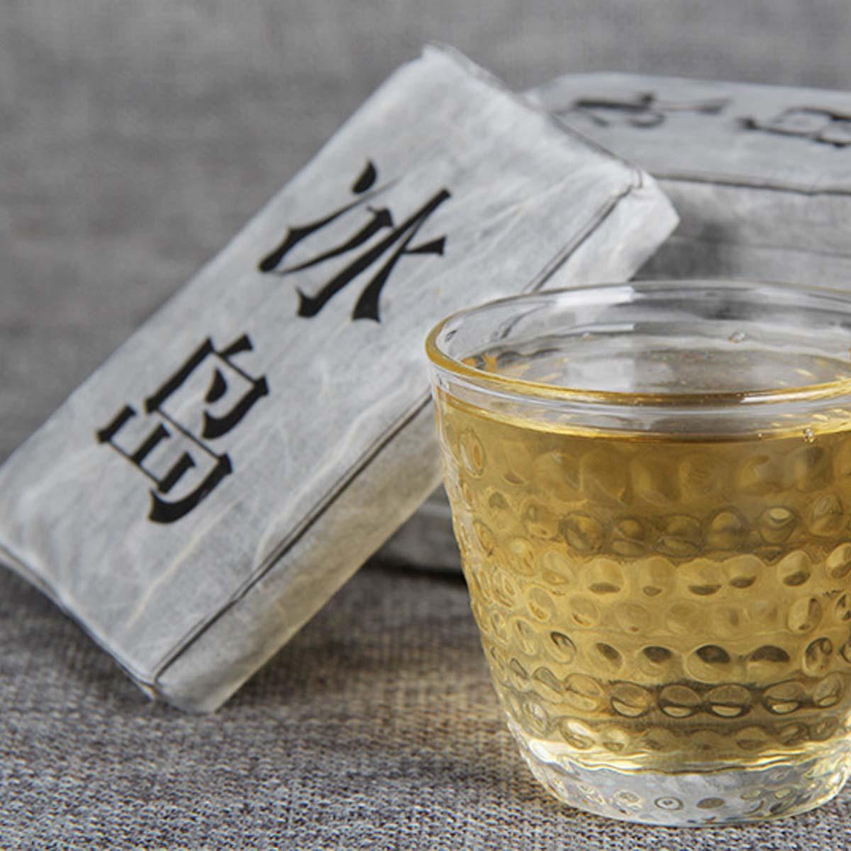 50 g roher Puer Tee Yunnan Island Kleine Puer Teeziegel Bio Pu'er Grün Puer älteste Baum Natürliche Puerh Teeziegel