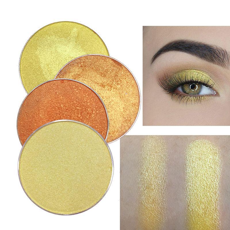 RedBlack populares en Orange color de la gama de pigmentos de belleza impermeable amarillo sombra de ojos del maquillaje compone la caja cosmética Pallete
