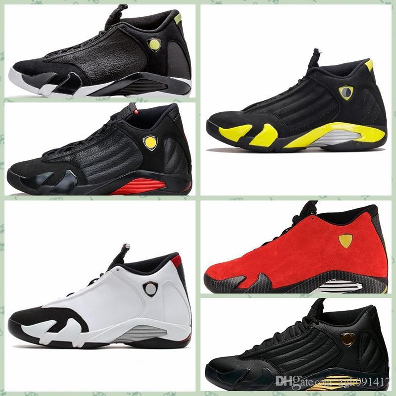 compre nike air jordan 14 retro aj aj14 las mujeres baratas 14s zapatos al aire libre jumpman 14 negro rojo dorado amarillo rosa blanco chicos niños